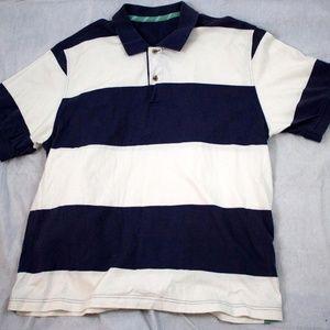 IZOD Men's Short Sleeve Striped Shirt